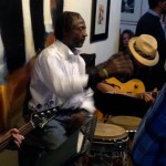Ray hits the congas
